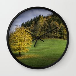 Autumn in Black Forest Wall Clock