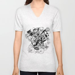 Monster RoadTrip! Unisex V-Neck