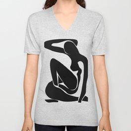 Matisse Cut Out Figure #1 Black Unisex V-Neck