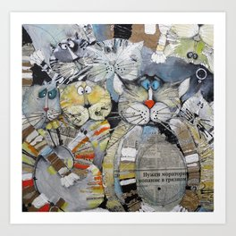 Cat Gang Kunstdrucke