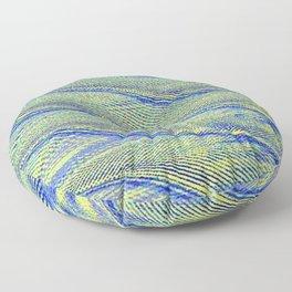 sonic waves Floor Pillow