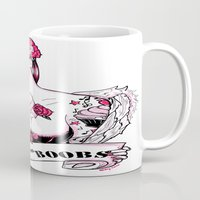 boobs Mugs featuring 2014 Bands for Boobs Design by Brittany Hanks by Bands for Boobs