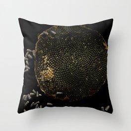 Full Moon Sunflower Throw Pillow