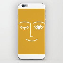 wink / mustard iPhone Skin