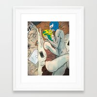 wrestling Framed Art Prints featuring Wrestling by Sebastian Cabot