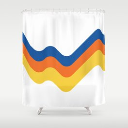 Sound Wave Shower Curtain