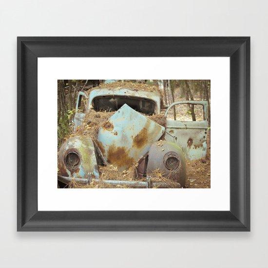 Junqueyard Blues Framed Art Print