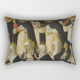 """Fra Angelico (Guido di Pietro) """"Fiesole Altarpiece - The Dominican Blessed"""" 1 Rectangular Pillow"""
