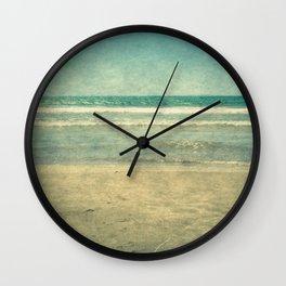 Seascape Vertical Vintage I Wall Clock