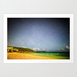 Night Beach Art Print