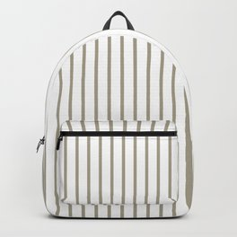 Pussy Willow Pinstripe on White Backpack