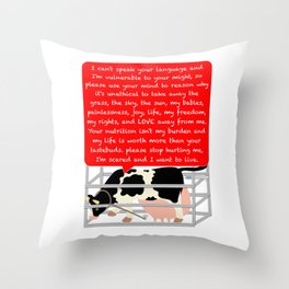 I'm a being not a commodity Throw Pillow