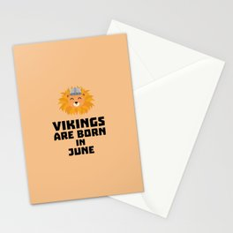 Vikings are born in June T-Shirt Dni2i Stationery Cards