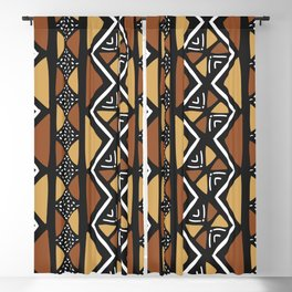 African mud cloth Mali Blackout Curtain
