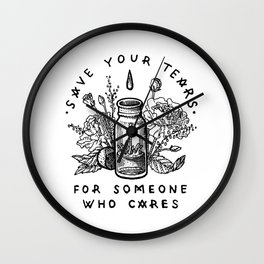 save your tears Wall Clock