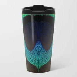 Peacock Feather Symmetry i Travel Mug