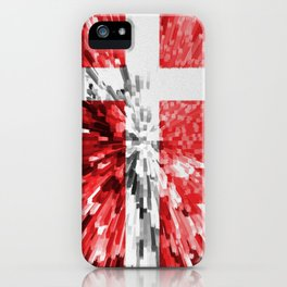 Extruded Flag of Denmark iPhone Case