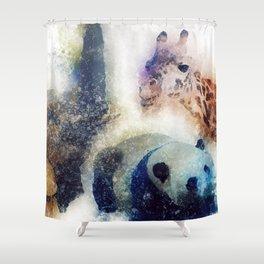 Animals Painting Shower Curtain