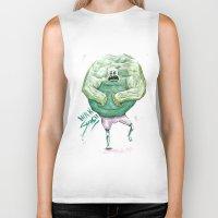 hulk Biker Tanks featuring Hulk by Crooked Octopus
