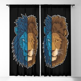 Lion Geometry | King of Jungle | Africa Sahara Blackout Curtain