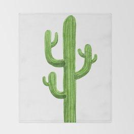 Cactus One Throw Blanket