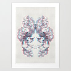 3D Fox Art Print