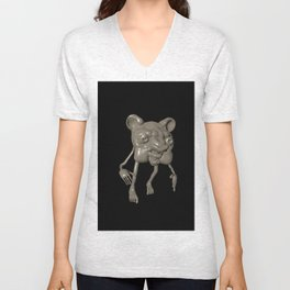 horror bear Unisex V-Neck