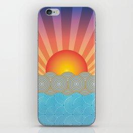 Oriental Seaview Sunset iPhone Skin