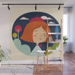 Girl happy Wall Mural