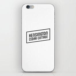 KENSINGTON CEDAR COTTAGE iPhone Skin
