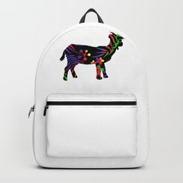 Rainbow forest goat Backpack