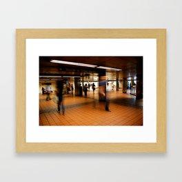 New York Train Station Framed Art Print
