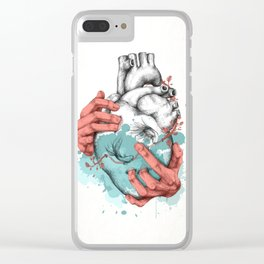 Heart and Hands Clear iPhone Case