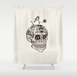 Boney Shower Curtain