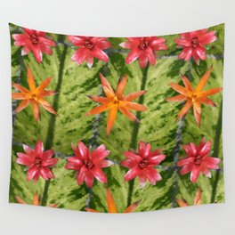 Patterned Flowers Wall Tapestry