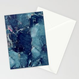 Blue Marble Texture Stationery Cards