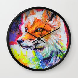 Fox Colors Wall Clock