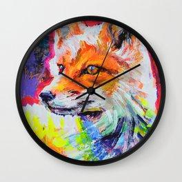 Fox Colors Wall Clock