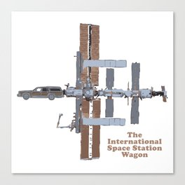 Space Station Wagon Canvas Print