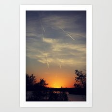 When the Sun sets Art Print