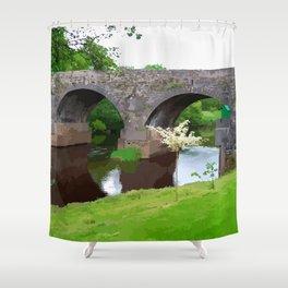 Banada Bridge Ireland Painted Photograph Shower Curtain