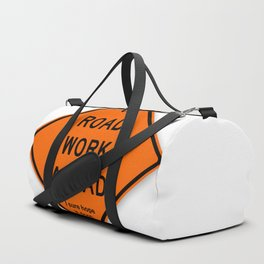 Road Work Ahead Meme Duffle Bag