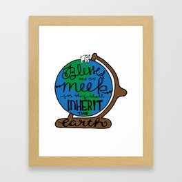Blessed are the Meek Framed Art Print