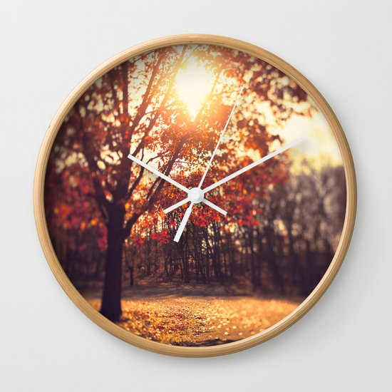 Autumn Sun  Wall Clock
