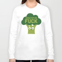vegetarian Long Sleeve T-shirts featuring Raw Truth by David Olenick
