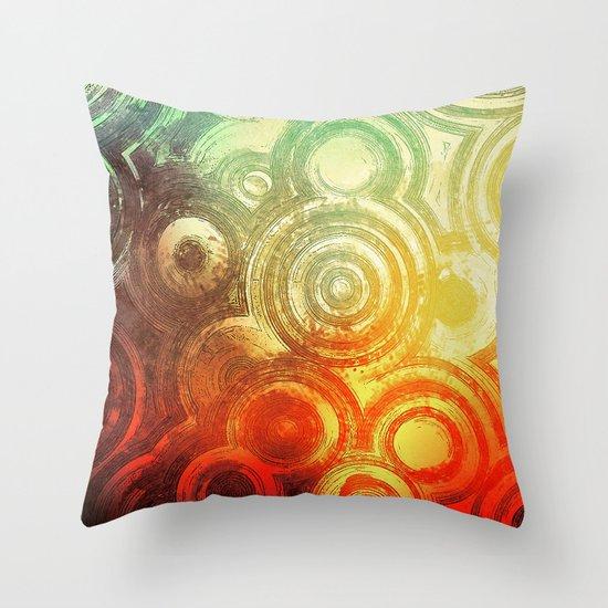 Cluster City Throw Pillow