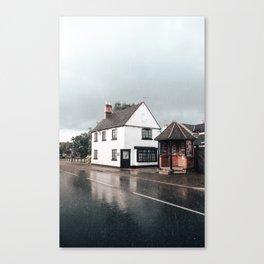 Rain storm in England Canvas Print