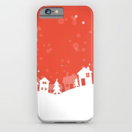 Jingle Jangle Town in Snow Trendy Design 2020 Xmas iPhone Case