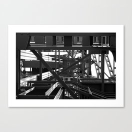 Black and white steel geometrics Canvas Print