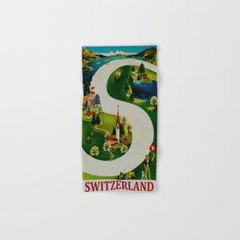 Vintage Switzerland Travel Hand & Bath Towel
